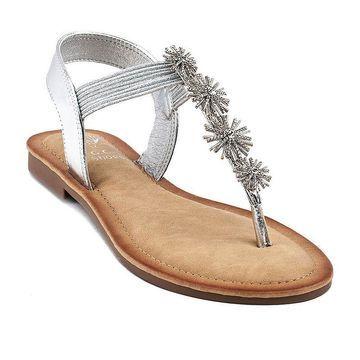 GC Shoes Womens Carlie Flat Sandals