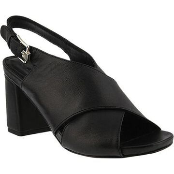 Azura Women's Meklit Slingback Sandal Black Leather