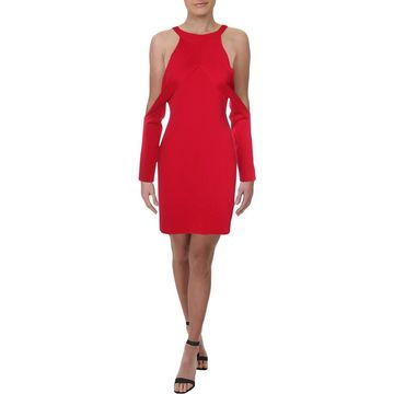 Dion Lee Womens Cold Shoulder Sheath Party Dress