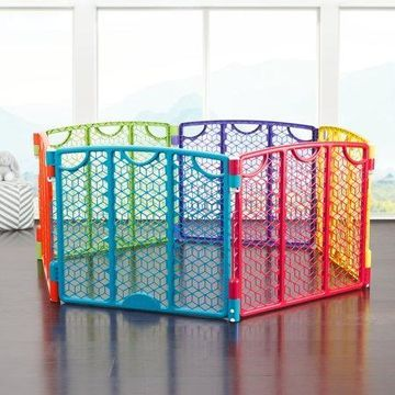 Evenflo Versatile Playspace Indoor/Outdoor Gate, Multi Color