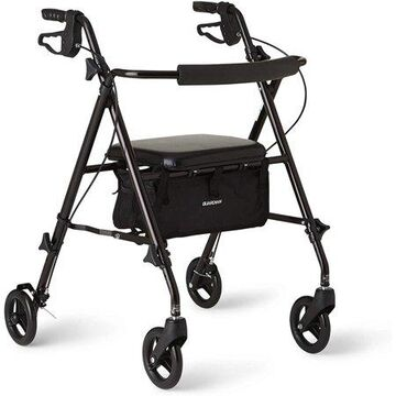 Medline Superlight Aluminum Rollator, Folding Rolling Walker, 6