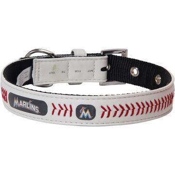 Miami Marlins Classic Leather Collar - White