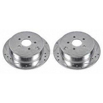 Power Stop JBR1365XPR Evolution Drilled & Slotted Rotors -Rear