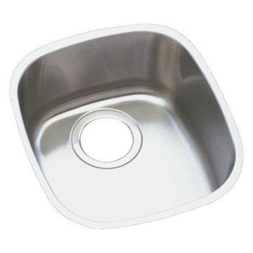 Elkay Lustertone Stainless Steel, Single Bowl Undermount Sink, Lustrous Satin