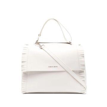 fringe-detail leather shoulder bag