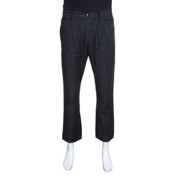 Z Zegna Black Denim Straight Fit Jeans XL