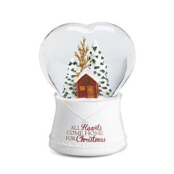 Roman Heart Musical Christmas Tree Snow Globe