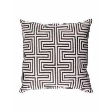 Embroidered Throw Pillow White