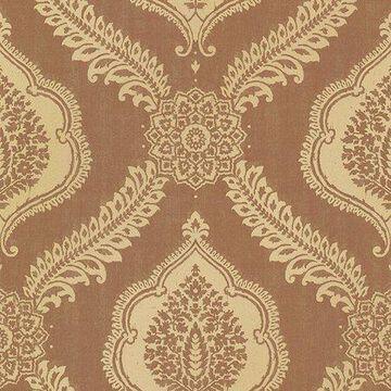 Kenneth James Zoraya Copper Damask Wallpaper