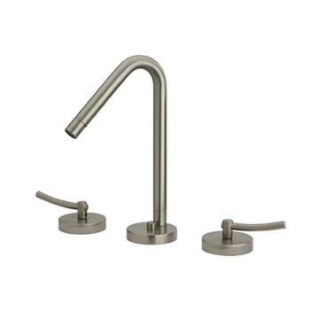 Metrohaus Lavatory Widespread Faucet with 45-Degree Swivel Spout, Pop-up Waste and Lever Handles - Polished Chrome