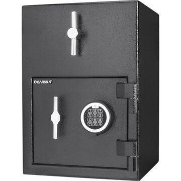 Barska 4.52-cu ft Keyed Commercial/Residential Floor Safe in Black | AX13308
