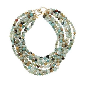 Kenneth Jay Lane 18K Plated Jade Necklace