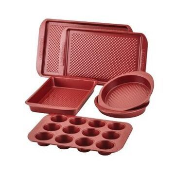 Farberware Colorvive Nonstick Bakeware Set, 6-Pc, Red