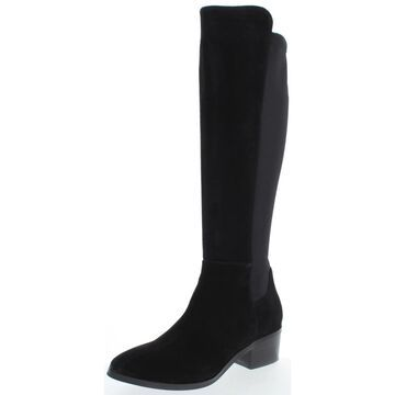 Blondo Womens Gallo Knee-High Boots Suede Tall - Black Suede