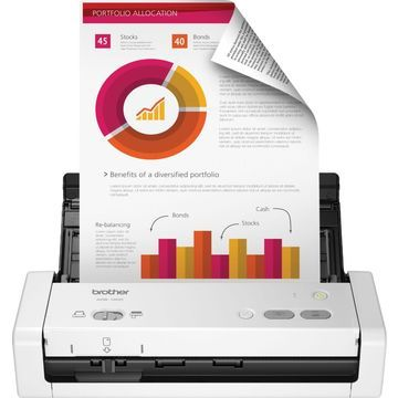 Brother - ADS-1200 Compact Desktop Scanner - White