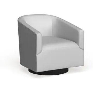Gilbert Wood Base Swivel Chair by Greyson Living (Dove Grey)