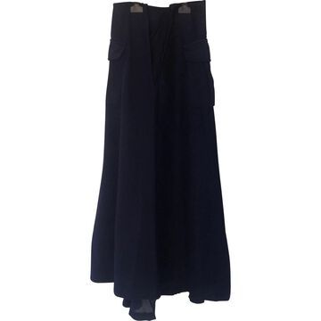 Comme Des Garcons Navy Cotton Skirts