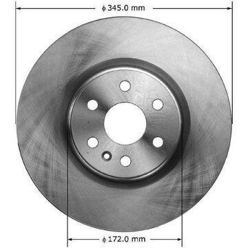 Disc Brake Rotor 2010-2011 Cadillac SRX 2.8L 3.0L, PRT5995
