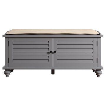 Jocelyn Cushioned Top Entry Way Bench With Storage - - Inspire Q