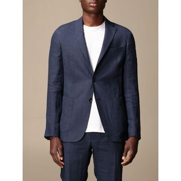 Single-breasted jacket Z Zegna in linen 250 g