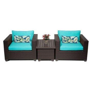 TK Classics Belle 3-Piece Outdoor Wicker Sofa Set, Aruba