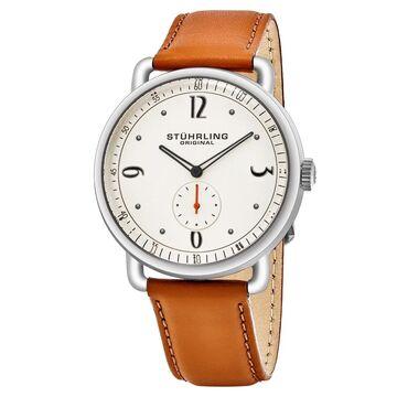 Stuhrling Original Men's Quartz Symphony Tan Leather Strap Watch (Stuhrling Original Men's Leather Strap Watch)