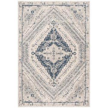 """Safavieh Marseille Navy and Ivory 6'7"""" x 6'7"""" Square Area Rug"""