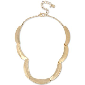 Gold-Tone Curved Bar Sculptural Collar Necklace, 17