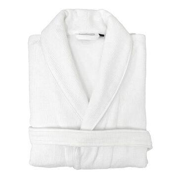 Linum Home Textiles Unisex Waffle Weave Terry Bathrobe, Men's, Size: Large/XL, White
