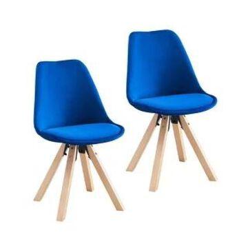 Porthos Home Poppy Dining Chairs Set of 2, Velvet and Beechwood