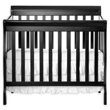 Dream On Me Aden 3-In-1 Convertible Mini Crib In Black
