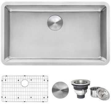 31 Undermount Kitchen Sink 16 Gauge SS Single Bowl