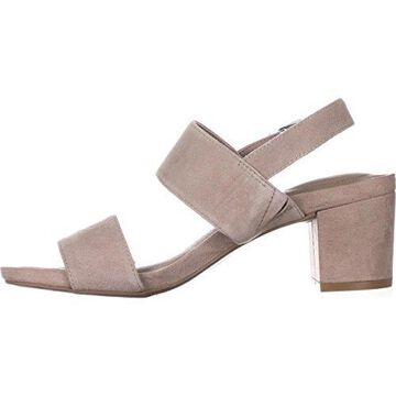 Giani Bernini Womens MAGGIEE Leather Open Toe Casual, Mushroom, Size 9.5