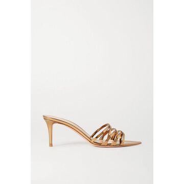 Gianvito Rossi - Lita 70 Metallic Leather Sandals - Gold