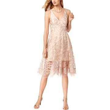 Xscape Womens Party Dress Mesh Embroidered