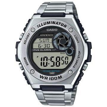 Casio Men's Digital Stainless Steel Bracelet Watch 50.7mm