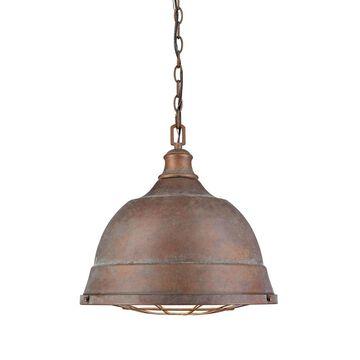 "Golden Lighting Bartlett #7312-L CP Copper Patina Steel 2-light Pendant - 16.5"" W x 15.88"" H (As Is Item)"