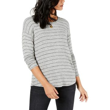 Style & Co. Womens Striped Knit Pullover Sweater