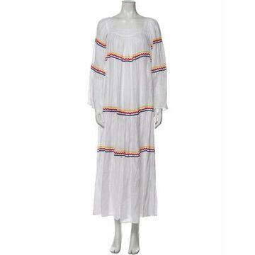 Linen Long Dress w/ Tags White