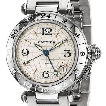 Certified Pre-owned Cartier Mens Pasha C Automatic GMT Watch (Certified Pre Owned)