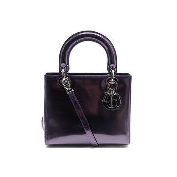 Dior Lady Dior Purple Patent leather Handbags