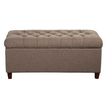 HomePop Tufted Storage Bench