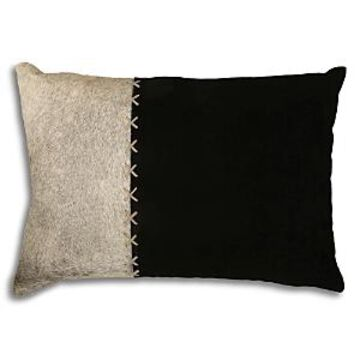 Ren-Wil Barat Calf Hair & Leather Pillow, 20 x 13
