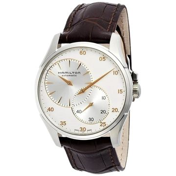 Hamilton Men's H42615553 'Jazzmaster' Automatic Brown Leather Watch