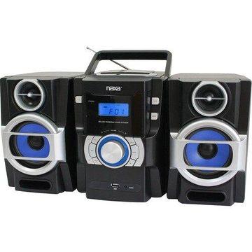 Naxa NPB-429 Mini Hi-Fi System - 16 W RMS - iPod Supported - Black - CD Player - 1 Disc(s) - FM - 2 Speaker(s) - CD-DA, MP3 - USB - Remote Control