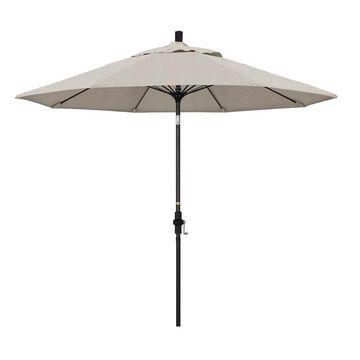 California Umbrella 9-ft. Sun Master Black Finish Patio Umbrella
