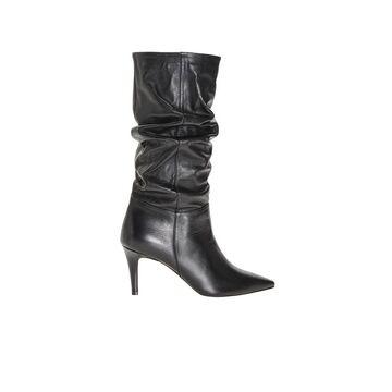 Pinko Black Nappa Leather Mezcal Boot