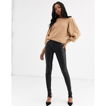 Y.A.S real leather pants in black