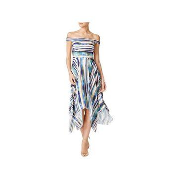ECI Womens Maxi Dress Asymmetric Off The Shoulder