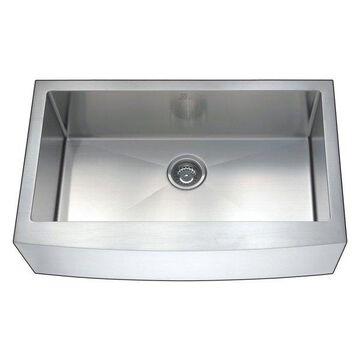 ANZZI Elysian Farmhouse Stainless Steel Kitchen Sink w/Sails Faucet